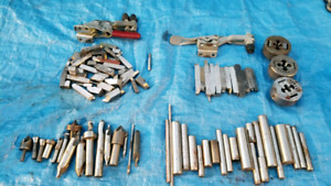 Various Machinist Tools Metal Lathe Cutters  Countersinks Clamps