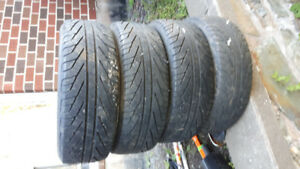four 205/65r15 mud and snow tires for sale, decent thread.