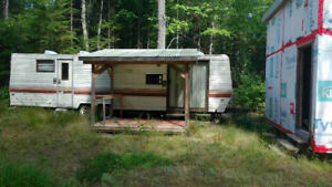 Trailer shed and 5 acres of land. Hunter's get away.