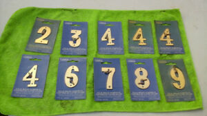 Wanted: Solid Brass Numbers