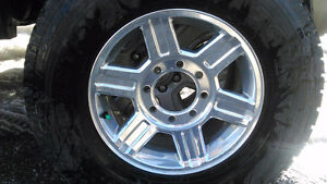 """17""""Ram factory wheels with tires EUC"""