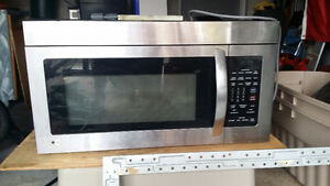 Over the range stainless steel LG microwave