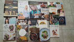 23 gourmet cookbooks in like new condition mostly vegetarian