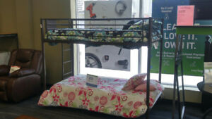 BUNKBED WITH 2 BUNK MATTS AS-IS CASH SALE $250 PLUSE TAX