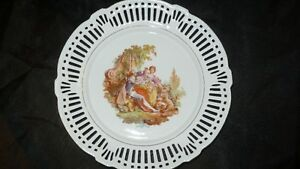 "ANTIQUE BEAUTIFUL ""SCHWARZENHAMMER"" PORCELAIN LATTICE PLATE Kitchener / Waterloo Kitchener Area image 2"