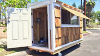WANTED: CARPENTER OR HANDYMAN TO BUILD TINY SHED ON WHEELS.