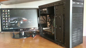 *** GAMING PC AMD X4 à 3.4 GHZ + HD 6950 2GB + MONITEUR+ 18 JEUX
