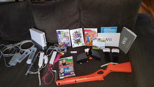 Wii console with accessories