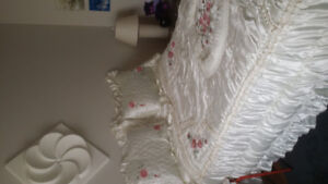 Quilted satin bedspread