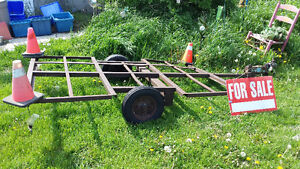 SMALL TRAILER FRAME WITH WHEELS