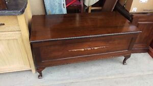Antique Solid Wood Red Seal Cedar Chest Storage