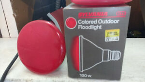 3 Red spotlight only one socket ALL 3 for $ 10