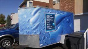 Unitée mobile pour lavage d'autos