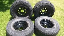 4 x Deep offset Sunrasias with 33 x 12.5 x 15 Tyres East Cannington Canning Area Preview