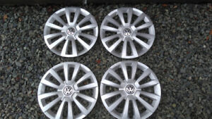 VW Hubcaps 15 inch as new condition