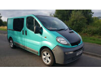 Vauxhall Vivaro Crew Van 1.9 2900 SWB * 6 Seats * Twin Side Doors * NO VAT