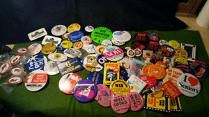 Selling this large group of Pins. Advertising Local etc.
