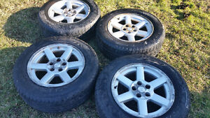 Used summer tires with mags all 4!! Off Jeep Liberty