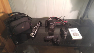 Cannon 600d with a bunch of accessoires