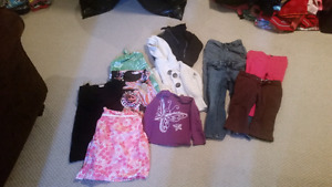 7 garbage bags of 1 and 2 year, 3 and 4 year old girl clothes