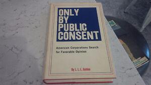 Only By Public Consent, L.L.L. Golden, 1968