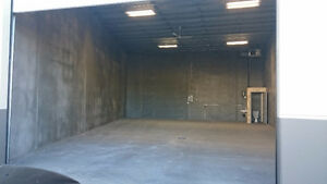 Secure and Heated Concrete Commercial / Industrial Bay