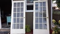15 PANEL GLASS FRENCH DOORS