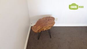 NEW Live Edge end table with black legs. Free delivery, no tax!