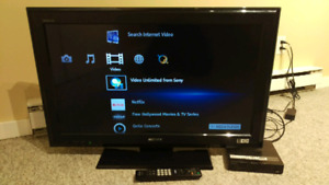 "Sony 32"" HD lcd tv /w Sony network media player"