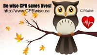 BLS CPR, AED, Heart and Stroke Course Fri Sept 7th and 10th