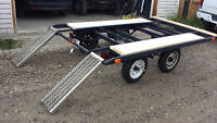 Flat deck trailer with ramps. Only $1199