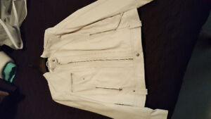 Leather Biker Jacket white new tags size med