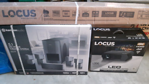 Locus L300 4k TV projector with retractable screen Home Theater
