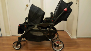CONTOURS LT DOUBLE STROLLER WITH INFANT SEAT ADAPTER