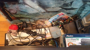 Fish tank plus lots of accessories
