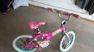 Small girls barbie bike