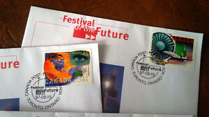 Festival of the Future, 4 Stamps, First Day of Issue Kitchener / Waterloo Kitchener Area image 2