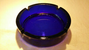 Large Cobalt Blue Glass Ashtray