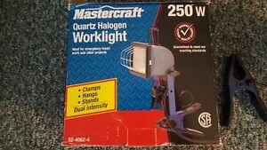 Mastercraft 250W Quartz Halogen Worklight - used once