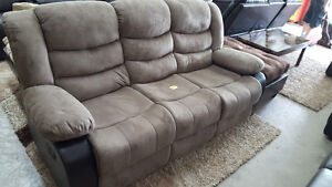 Beige reclining couch - delivery available
