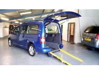 2011 VW Caddy Maxi Life Auto Remote Tailgate & Wheelchair Ramp 1.6TDi