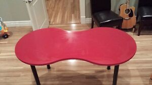 Peanut shaped Red Table