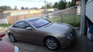 2001 MERCEDES BENZ CL500 GOLD
