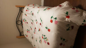 Bed - wooden frame, mattress and spring box - 100 dollars