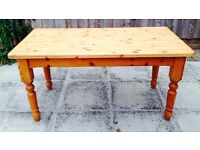 Kitchen / Dining Table - Solid Pine