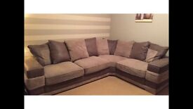 Corner sofa and 2 seater settee