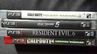PS3 and 4 games for sale