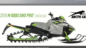 """2018 Arctic Cat  M8000 Sno Pro 162"""" ER"""