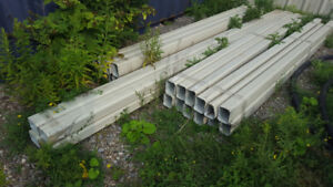 Aluminum downspouts and elbows for sale. Construction surplus.