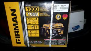Brand new Firman Portable Generator 1300/1050W